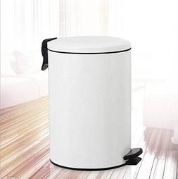 Stainless steel trash can Round trash can household Stainles