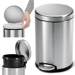 STAINLESS STEEL TRASH CAN SMALL Office Bathroom Waste Basket