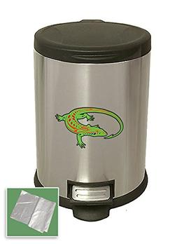 New 3.1 Gallon Stainless Steel Step Trash Can Waste Basket F