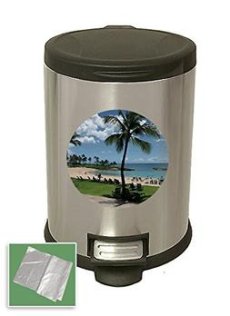 The Furniture Cove New 3.1 Gallon Stainless Steel Step Trash