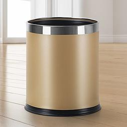 Stainless steel trash cans,Double layers living room bedroom