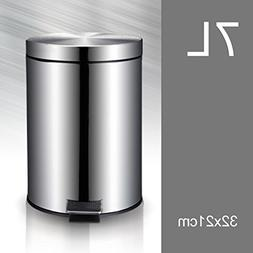 Ging Stainless Steel Trash cans,European with lid Silence Pe