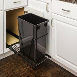 Hardware Resources Steel Pull Out/Under Counter Trash Can Ho