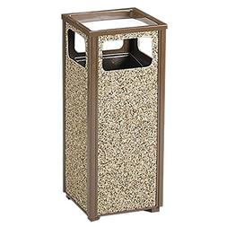 RUBBERMAID Steel Stone Panel Receptacle - Combination Trash
