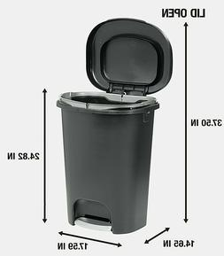 Step On Lid Trash Can 13 Gallon for Home Kitchen and Bathroo
