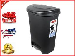 Step-On Lid Trash Can for Home Bathroom and Kitchen Garbage
