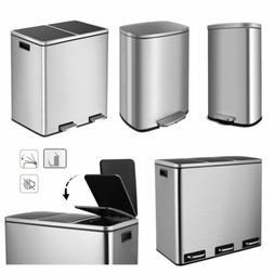 Step-on Trash Can Stainless Steel Garbage Can with Lid Kitch