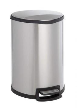 Home Zone Step Trash Can - 12 Gallon / 45 Liter Semi-Round S