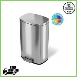 Step Trash Can with Odor Control System 13.2 Gallon Stainles