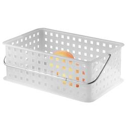 InterDesign Storage Organizer Basket, with Handle for Bathro