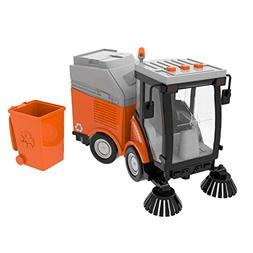 Street Sweeper Toy, Push and Go Friction Powered Truck Toys