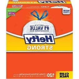 Hefty Strong Kitchen Trash Bags 13 Gallon Garbage 120 Count
