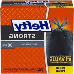 Hefty Strong Multipurpose Large Trash Bags, 30 Gallon, 74 Co