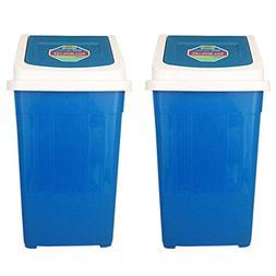 Serendipity Sturdy Plastic Trash Bin with Lids Garbage Waste