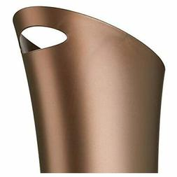 Stylish Bathroom Trash, Small Garbage Can Wastebasket  Bronz