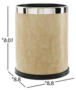 Brelso Super Quality Leatherette Trash Can, Office Garbage C
