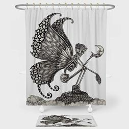 iPrint Surrealistic Shower Curtain And Floor Mat Combination