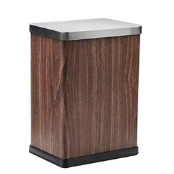 Wghfwx Swing Trash Can Stainless Steel Double Layer Square W