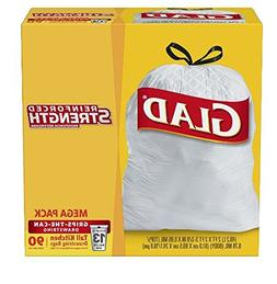 Glad Tall Kitchen Drawstring Trash Bag - 13 Gallon - 90 Coun