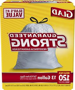 Glad Tall Kitchen Drawstring Trash Bags - 13 Gallon - 120 Co