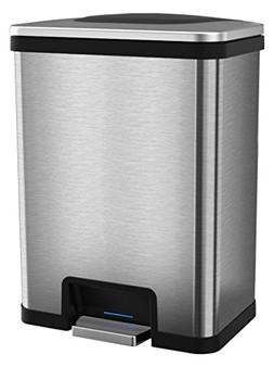 halo TapCan 13 Gallon Effortless Trash Can with One-Tap Peda
