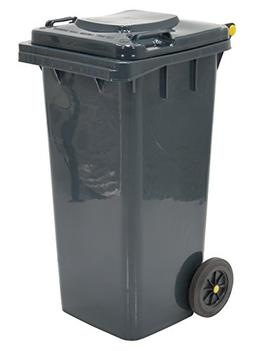 "Vestil TH-32-GY Polyethylene 32-Gallon Trash Can, 22"" Length"