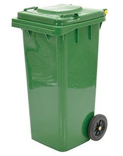 "Vestil TH-32-GRN Polyethylene Garbage Can, 18-1/2"" Width x 3"