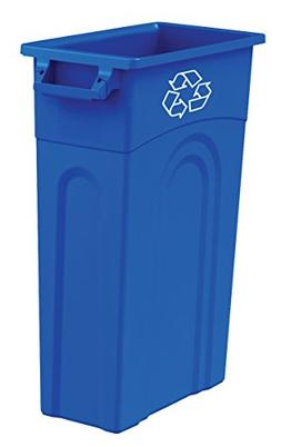 United Solutions TI0033 Highboy Recycling Container In Blue,