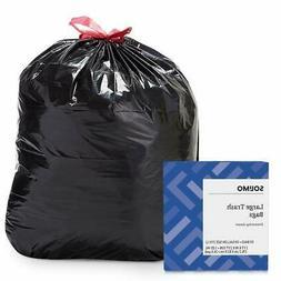 Amazon Brand - Solimo Multipurpose Drawstring Trash Bags, 30