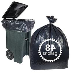 Toter 48 Gallon Trash Bags By 50 Count Heavy Duty Black Garb