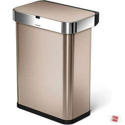 Touch Free Sensor Kitchen Garbage With Lid Large Trash Can V