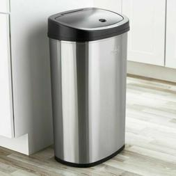 Touch Free Trash Can 13 Gal Stainless Steel Automatic Sensor