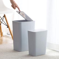 Touch Lid Slim Trash Can Garbage Rubbish Bin Wastebasket Toi