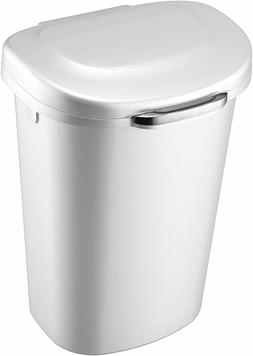 Rubbermaid Touch Top Lid Trash Can for Home, Kitchen, and Ba