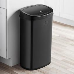 Touchless Black Stainless Steel Motion Sensor Trash Can Garb
