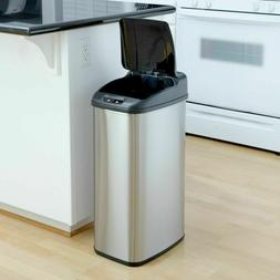 Touchless Hands Free Sensor Trash Can Kitchen Garbage Metal