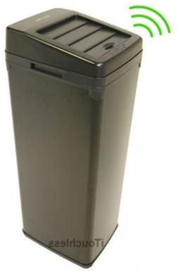 Touchless Motion Sensor Trash Can Sliding Lid Feature Garbag