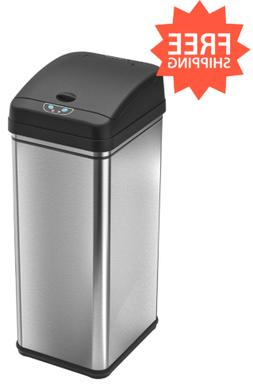 Touchless Sensor Trash Can Bin Kitchen Garbage Stainless Bla
