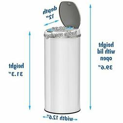 Touchless Sensor Trash Can with Odor Filter System Round Ste