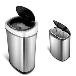 GT Touchless Trash Can Set Automatic Metal Stainless Steel D
