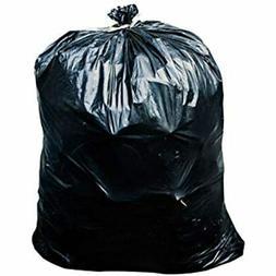 65 Gallon Trash Bags - 1.5 Mil Black Heavy Duty Garbage Can