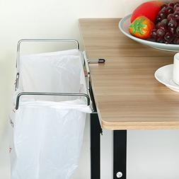 Alomejor Trash Bag Table Holder, Outdoor Can Bracket Dustbin
