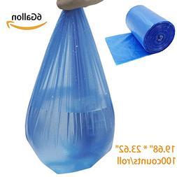 Trash Bags 6 Gallon,100 Counts Durable Tall Kitchen Small Ga