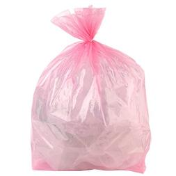 Plasticplace 12-16 Gallon Trash Bags, Pink, 250 bags
