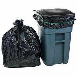 Plasticplace Trash Bags, 65 Gallon, 50 Bags, Black
