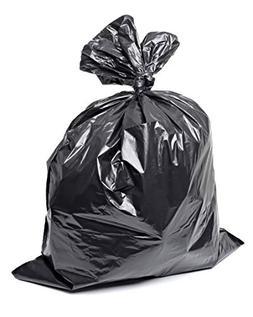 Plastico Large Trash Bags 100-Pack Black Large Garbage Bags