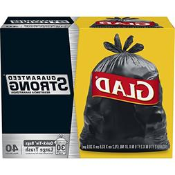 Glad Strong Quick-Tie Large Trash Bags - 30 Gallon - 40 Coun