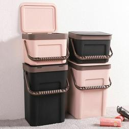 Trash Bin Garbage Can Kitchen Waste Container Wall Mount Cup