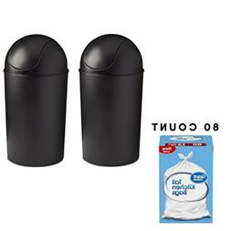 Umbra Grand 10 Gallon Trash Can, Works with Large Kitchen Tr
