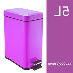 DW&HX Step trash can,Rectangle waste bins trash can with lid
